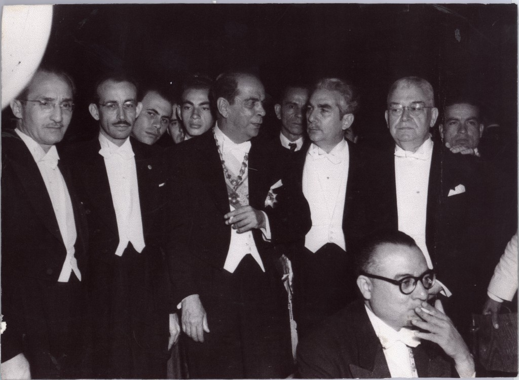 Fernando Ortiz at the Inauguration of President. Caracas, 1948